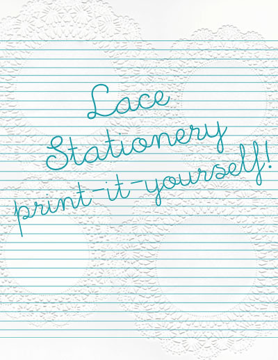 Lace printable stationery | Flickr - Photo Sharing!