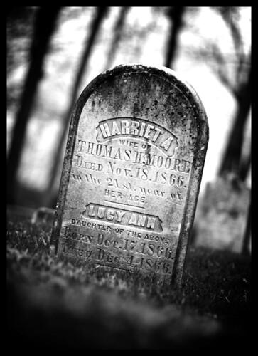 bw graveyard gravestone archaic