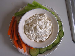 meal(0.0), breakfast(1.0), vegetable(1.0), dip(1.0), produce(1.0), food(1.0), dish(1.0), dairy product(1.0), cuisine(1.0), sour cream(1.0),