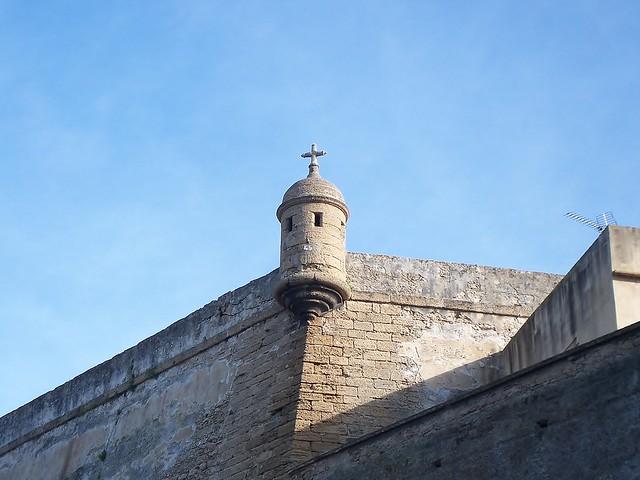 Garita en el Baluarte de Santa Elena,Cádiz.