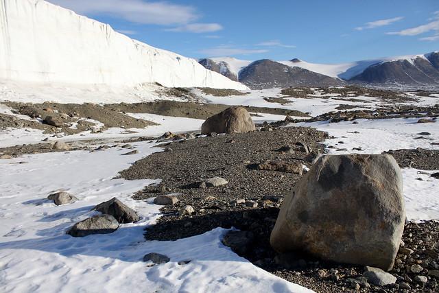 Los valles secos de McMurdo, Glaciar Commonwealth. La Antártida