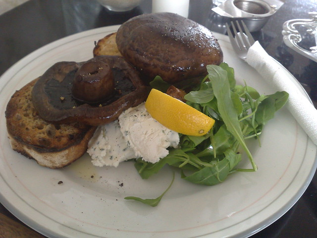 field mushrooms on sourdough toast with goats' cheese | Flickr - Photo ...