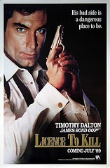 "James Bond: Licence To Kill  Original 1989 US One Sheet - Advance Teaser ""Coming July '89"" Movie Poster"