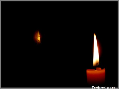 Candle light - Reflection