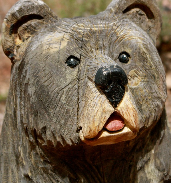Chainsaw carvings of bears moose colorado springs