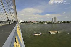 38 degrees centigrade : The Rama 8th Bridge, Bangkok, Thailand