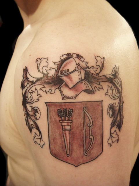 english coat of arms tattoo - photo #36