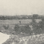 This photograph, captioned 'The Skyline of Good Old Columbus Town, Taken from the Knolls of The Northwest Boulevard' appeared on the inside cover of the October 1918 Norwester magazine. It was part of an advertisement for residential lots for sale near Upper Arlington by the Northwest Boulevard Company. Ben Thompson was president of the company and his brother, King, was secretary. The advertisement boasted that, as the crow flies, the Ohio Statehouse was less than two miles away from the development.This image available online at the UA Archives >>View the related 'Norwester' magazine advertisement at the UA Archives >>----------------------------------------Identifier: hinw12p00bi01Date (yyyy-mm-dd): c. 1918-10Original Dimensions: 11.3 cm x 6.5 cmFormat: Black and White Halftone PhotographSource: Norwester, October 1918, Front Inside CoverOriginal Publisher: Upper Arlington Community (Ohio)Location/s: Grandview Heights (USA, Ohio, Franklin County)Repository: Upper Arlington Historical SocietyDigital Publisher: Upper Arlington Public Library, UA ArchivesCredit: UA Archives - Upper Arlington Public Library (Repository: UA Historical Society)
