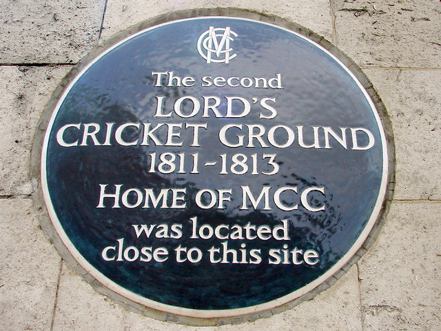 Blue plaque № 4970 - The second Lord's Cricket Ground 1811-1813 Home of MCC was located close to this site