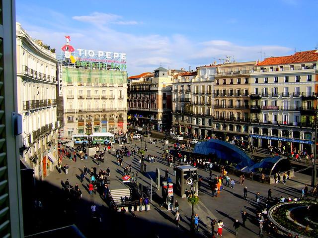 Puerta del sol plaza madrid flickr photo sharing for Puerta del sol madrid spain