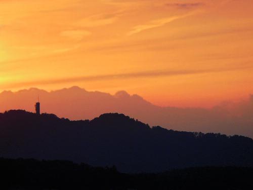 sunset sky orange colour tower clouds schweiz switzerland evening abend sonnenuntergang suisse zurich himmel wolken atmosphere harmony zürich svizzera uetliberg stimmung sendeturm mywinners abigfave zimmerberg duqueiros updatecollection