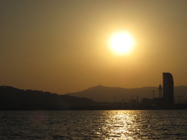 Sun over Barcelona