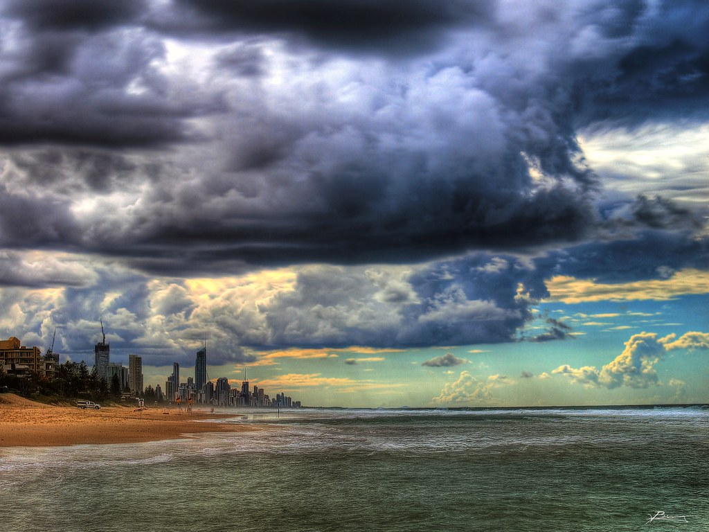 imprending storms, gold coast by paul bica