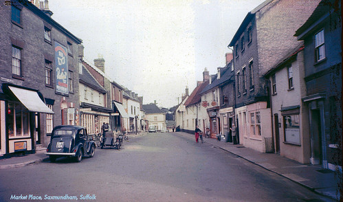 Market Place, Saxmundham, Suffolk, late 1950s by Lady Wulfrun