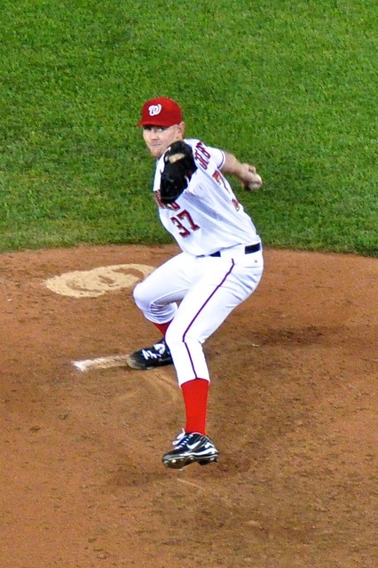 Stephen Strasburg Winds Up from Flickr via Wylio