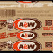 Amurol - A&W Root Beer liquid center bubble gum pack wrapper - 1983