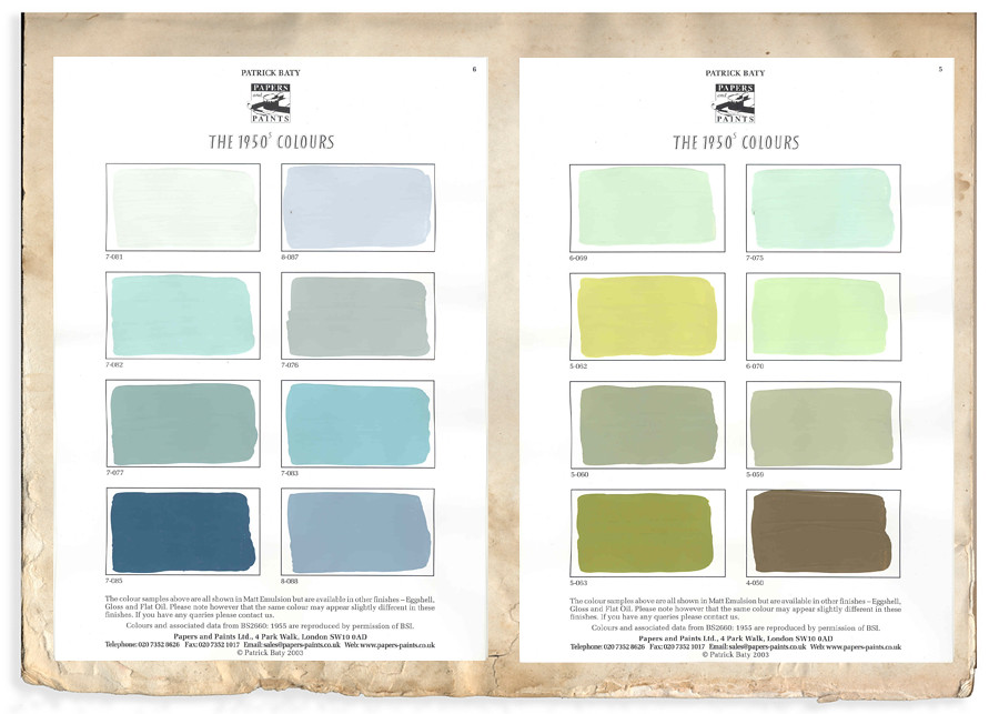 My Favorite Color Is Shiny 1950s Paint Swatches