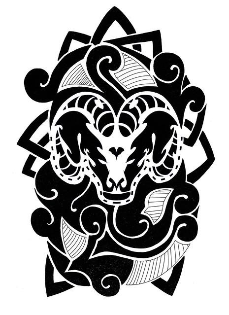 Aries Tattoo Design