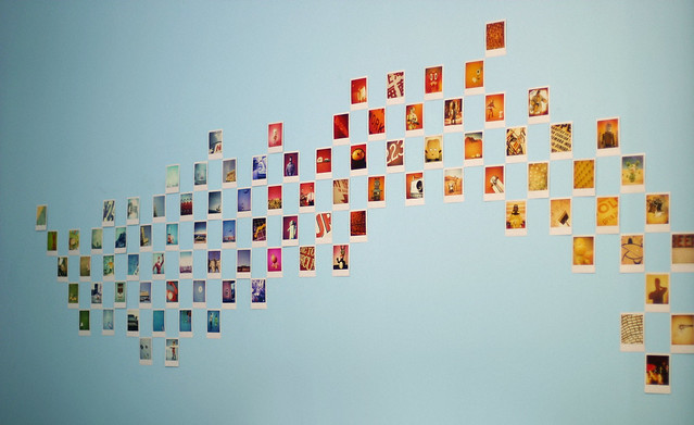 Polaroid Wave Wall