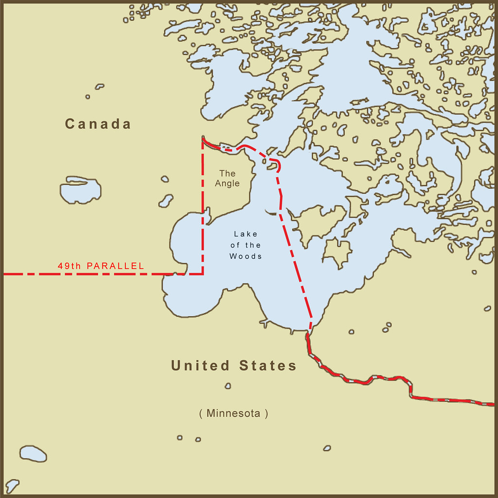 A Map Of The Northwest Angle Border Between The Usa And Flickr