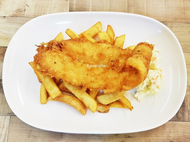 Battered Fish & Chips With Coleslaw