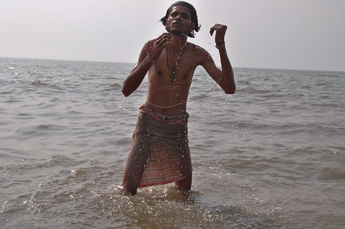 Man in Arabian Sea by mReport