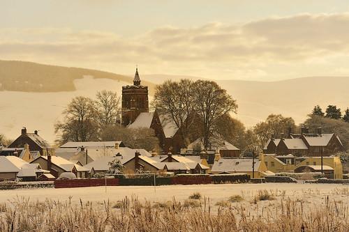 christmas winter snow scotland frost lowlands hills moffat