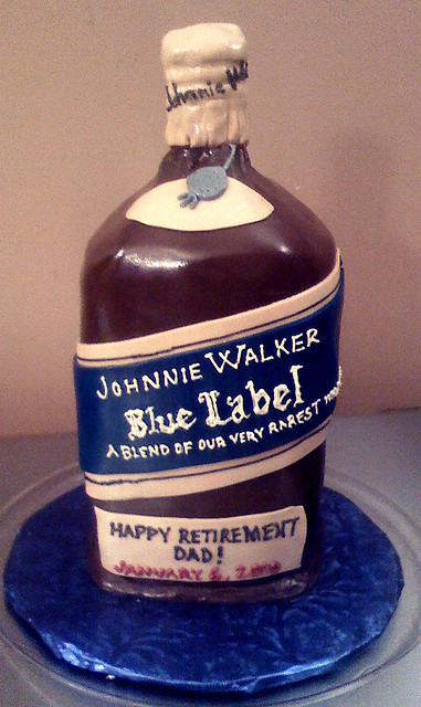 Johnnie Walker Blue Label Cake http://www.flickr.com/photos/yahairamorlas/4258916104/