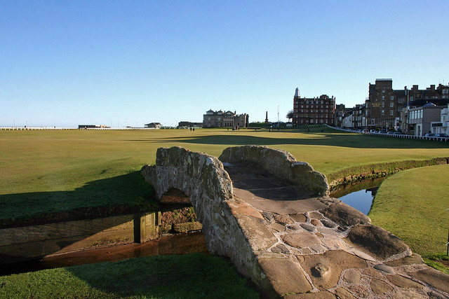 Swilcan Bridge and R&A, St Andrews