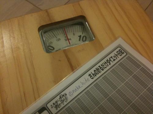 メタボと呼ばれて早?年。ためしてガッテンの「計るだけダイエット日記」をやろうかなと。
