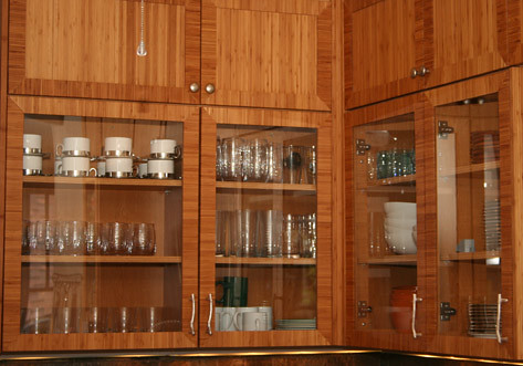 Mitered Bamboo Cabinet Doors With Corner Inlays By Conkli Flickr
