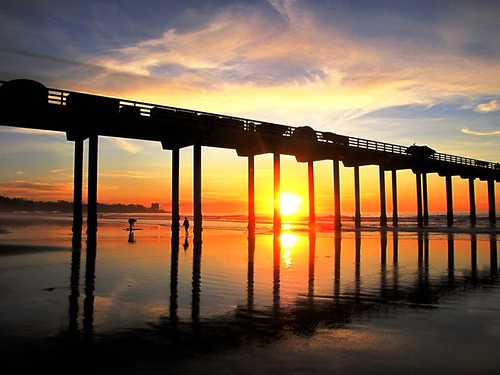 Sunset at the Pier, La Jolla , California