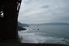 Beach under the Golden Gate