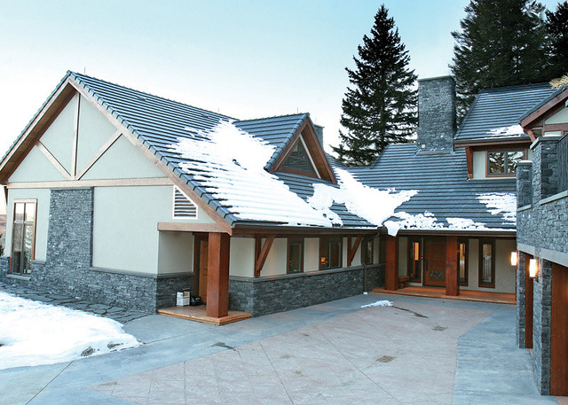 Red Deer Ranch Timber Frame Home Exterior Flickr