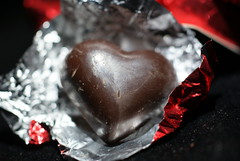 Divine 70% Dark Chocolate Hearts Close up outer