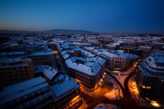 Oslo evening view
