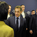 Doris Leuthard, Nicolas Sarkozy and Klaus Schwab - World Economic Forum Annual Meeting Davos 2010