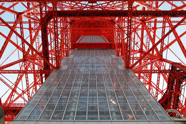Vista interior de la Torre de Tokio.