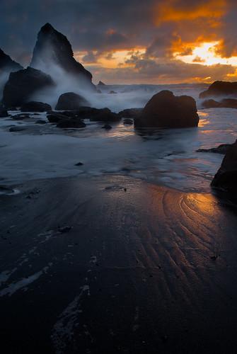 california sunset beach humboldt sony a200 luffenholtz