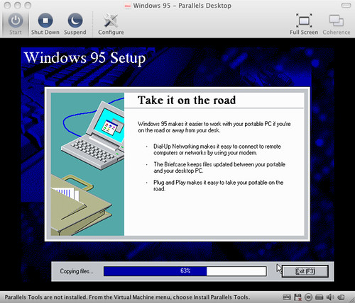 Installing Windows 95 In Parallels What Can I Say I Was