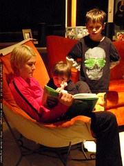 rachel reading  the giving tree  to her boys (and ge…