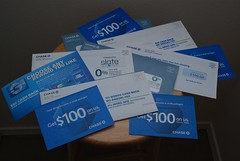 pile of Chase credit card offers