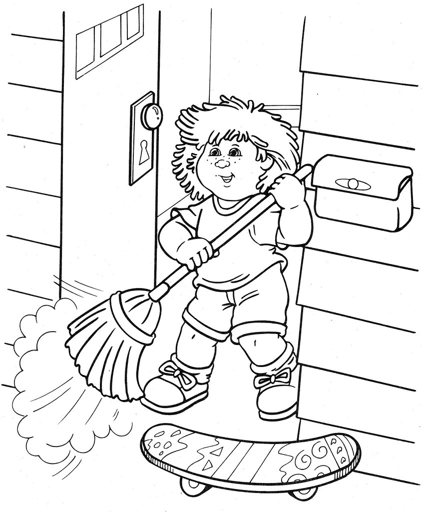 cabbage patch coloring pages - photo#36