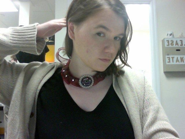 lilypad necklace. yay arduino!