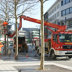 Fire brigade men at work in Bochum