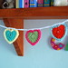 Teeny Tiny Crochet Heart Bunting