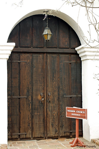 Entry door to Mission Church by Gypsy Mom