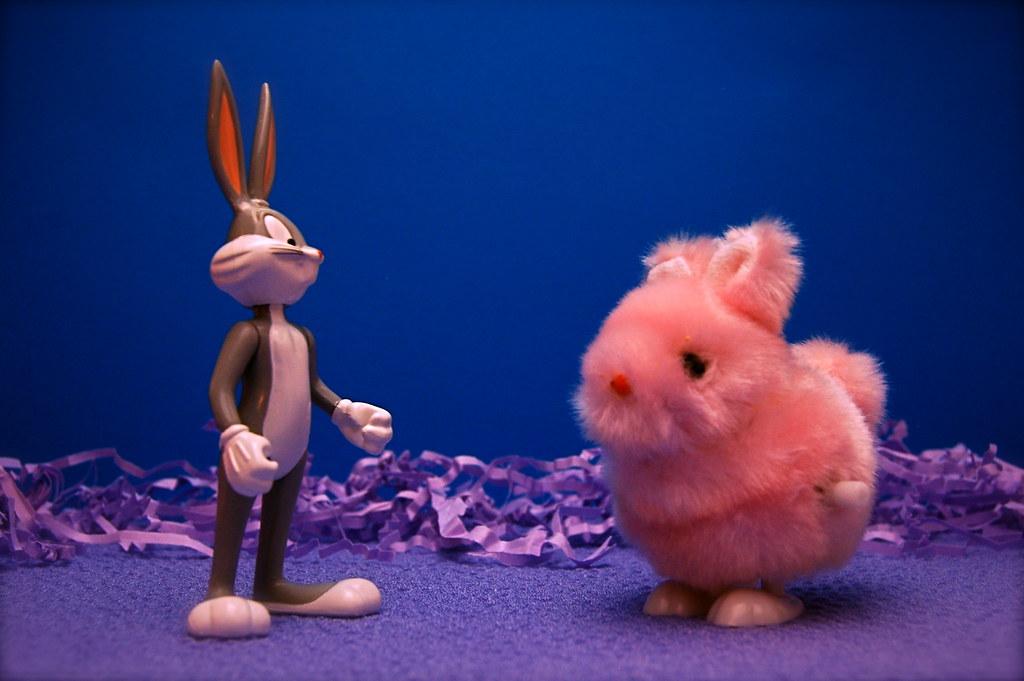 Bugs Bunny vs. Easter Bunny (94/365)