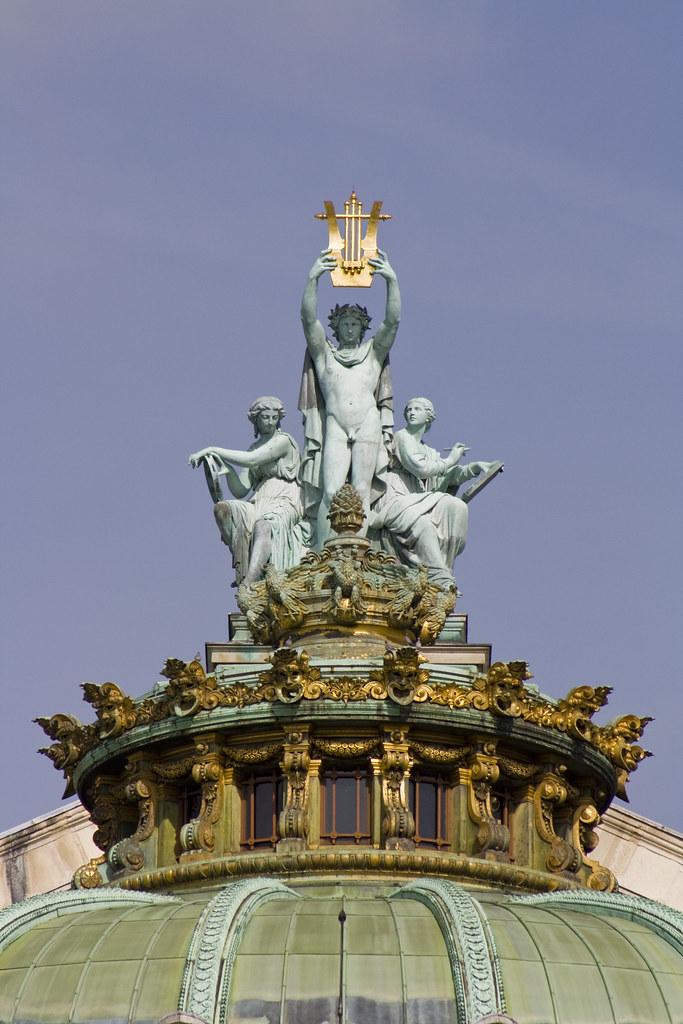 Opera's Garnier statue