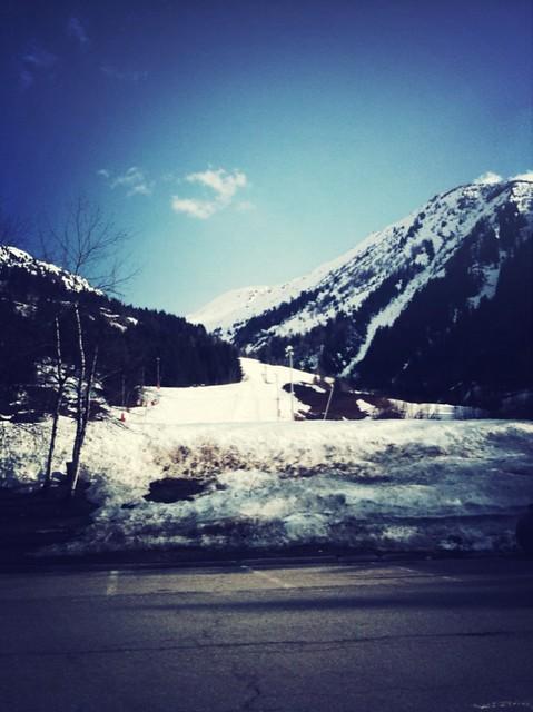 Fin de journée de ski avec un temps terrible